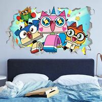 Unikitty wall decals stickers mural home decor for bedroom Art - JO184