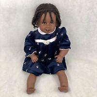 "Vintage 1994 Pat Secrist Giggles African American 22"" Doll Braids Dress Rare"