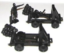 Marx reissue castle playset catapults x 2 + two rock piles for your toy soldiers