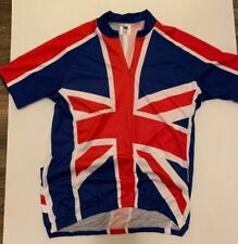 Made England FOSKA Bike Cycling Jersey adult size Large VGC Union Jack flag VGC