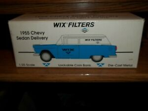 1/25  Wix Filters die cast metal lockable coin bank 1955 Chevy Sedan Delivery