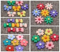 Mixed Color Flatback Resin Daisy Flower / BowKnot Cabochons Appliques For phone