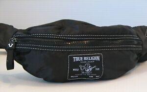 True Religion Black Waist Pouch Fanny Pack Crossbody Belt Bag