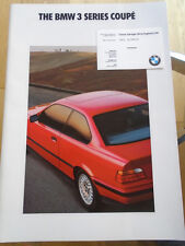 BMW 3 Series Coupe brochure 1992 Ed 1