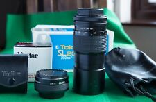 Tokina SL200 F3.5 200mm Lens, Vivitar 2x Converter. FD fit for Canon Film 35mm