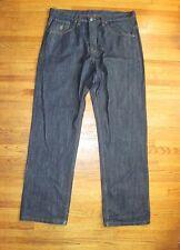 Men's Rocawear Classic Fit 5 Pocket Dark Blue Brown R Jeans Sizes 38 X 35 UEC