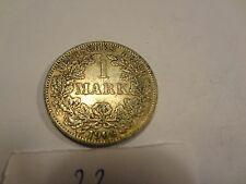 Reichsmark, 1 Mark, Reichsmünze, 1906 Buchstabe A silber  unbehandelt, top (23)