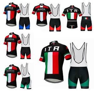 2021 Team Fahrradshirt Trikot & Trägerhose Kurz Set Herren Radsport Bekleidung