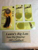 OLFA 45mm Ergonomic ROTARY CUTTER NEW Includes 3 Extra Blades  Free Ship $25.00