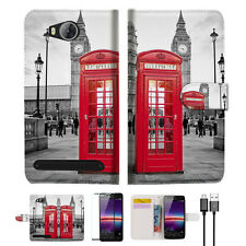 British phone Booth Wallet TPU Case Cover For HUAWEI Y3 II 2 -- A024