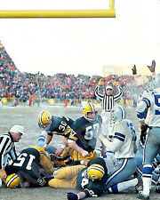Bart Starr 1967 Ice Bowl Touchdown Green Bay Packers 8x10 Color Photo