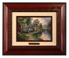 Thomas Kinkade Hometown Lake Framed Brushwork (Brandy Frame)