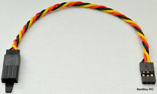 (1) 15CM Twisted 22awg Servo Extension Lead JR / Hitec w/ Built In Safety Clip
