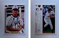 Robin Ventura Signed 1991 Upper Deck #263 Card Chicago White Sox Auto Autograph