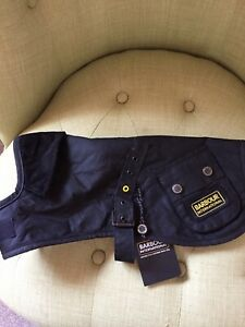 Barbour Black  Wax Dog Coat Size Small