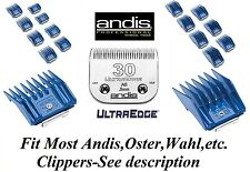 Andis Ag / Bg / A5 Universel Guide Attachment 17 Pc Comb&30 Ultra Bord Lame de