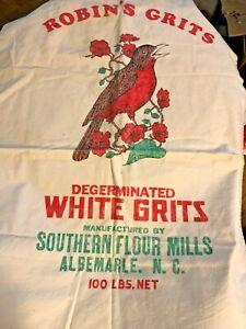 Southern Flour Mills White Grits Bag Feed Sack Albermarle NC