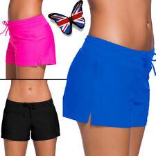 Women Swim Shorts Bikini Bottoms Beach Party Plus Size Boy Style Pant Activewear