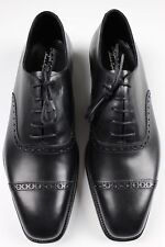 RALPH LAUREN PURPLE LABEL STEIN BLACK DRESS SHOES- MADE IN THE UK- 9.5 US