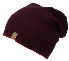 Angela &William Mens Multi-Color Rib Knit Slouch Winter Hat #857 Red/Black