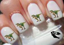 Dinosaur T Rex Nail Art Stickers Transfers Decals Set of 58