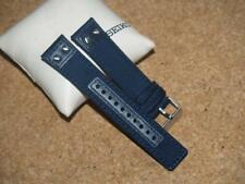 SEIKO 22mm SUPER BLUE NYLON AND LEATHER WATCH STRAP LOA3O11JO Z22