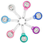 Unisex Nurse Doctor Watch Brooch Clip On Hanging Pocket Fob Watch Silicone Cover