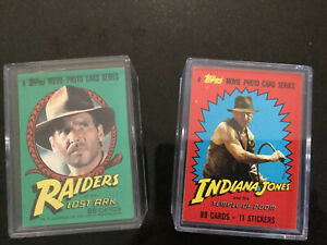 Indiana Jones 2 Complete Sets Of Trading Cards By Topps