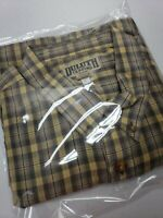 Duluth Trading Co Short Sleeve Button Down Multicolor Plaid Shirt Men's 2XL
