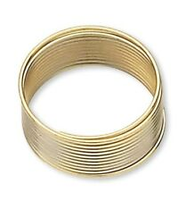 """1 Ounce Gold Plated Stainless Steel 1/2"""" Toe Ring Memory Wire"""