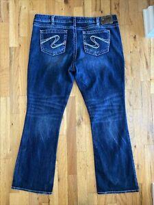 Silver Aiko Bootcut Blue Jeans woman's Medium Wash Plus Size 20 Mid rise