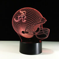 Alabama Crimson Tide Roll College LED Light Lamp Collectible Home Decor Gift