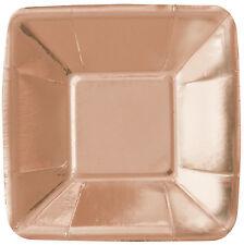 8 x petit doré rose feuille métallique Papier apéritif CANAPE plaques 13cm
