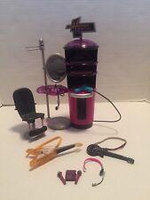Disney Hannah Montana Doll Furniture Dressing Room Microphone Guitar Play Set