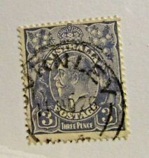 AUSTRALIA #30 Θ used, 3d Kangaroo & Emu stamp, cds cancel, very fine + 102 card