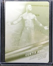 2019 Topps WWE Smackdown Live Curtis Axel Yellow Printing Plate Card #1/1 1 Of 1