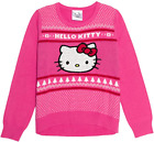 Hello Kitty Girls' Ugly Christmas Sweater, Pink, Size Small 6-6X