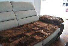 1 x  MERINO Sheepskin Throw Fur Rug Natural Car / Chair Seat Covers Sofa Pad Bed