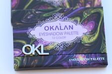 OKALAN 12 Colors Makeup Eyeshadow Palette with Mirror Kit
