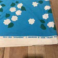 More details for rare vintage 1975 fabric marimekko oy suomi finland maija isola taivaankukat