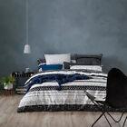 Home Republic Dakota Single Quilt Cover Set Black BNIB - RRP $169.99