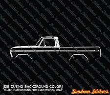 2X Car silhouette stickers -for Ford F100 /F150 (1973-1979) classic pickup truck