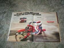 1980 HONDA CR80R Cycle Ad  MX Motocross 16.5 HP  CR 80