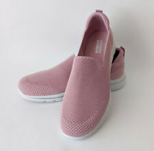 Skechers GoWalk 5 Slip On Ladies Trainers Light Pink Size 5 UK EUR 38 Worn Once