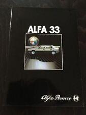 Alfa Romeo Alfa 33 Car Brochure 1984