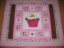 Cup cake patchwork quilt, hand made and professionally finished