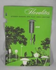 Vintage 1960s Steber Floralite Mid Century Modern Outdoor Lighting Catalog
