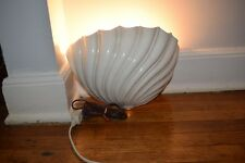 """VINTAGE MILK GLASS SCALLOP SHELL 13""""  WALL  SCONCE"""
