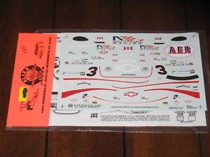 Slixx Trans Am 1137 Vintage Waterslide Decals 1/24 Ron Fellows AER Camaro SCCA