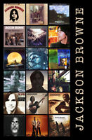 "JACKSON BROWNE album discography magnet (4.5"" x 3.5"") (eagles, linda ronstadt)"